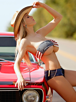 Gorgeous Babe Jordan Carver in American Tits via Pinup Files