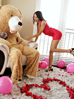 Fantasy About Tiny Jasmine Grey Fucking with a Huge Teddy Bear