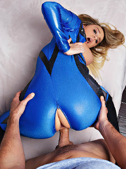 Fucktastic Four - Superhero Alexis Adams Fucking in Shiny Catsuit