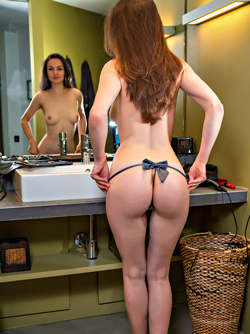 Tanya Grace: Spa Shower by Deltagamma - Lovely Brunette Showering