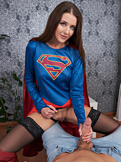Sybil A is Fucking in Long Leather Boots in Supergirl A XXX Parody