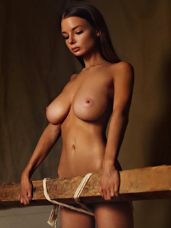 Busty Brunette Vera Gudkova in 'Nude and Stacked' via Mr Skin Celebs
