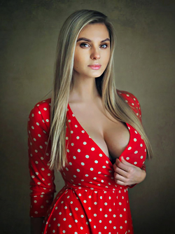 Russian Blonde Model Alenashkaa in Busty Goddess via Mr. Skin